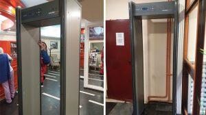 Montaža metal-detektorskih vrata